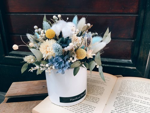 [Good flower] Dry table flower ceremony water blue dry not blossoming ceremony opening ceremony ceremony home decoration table flower New Year Valentine's Day Mother's Day gift