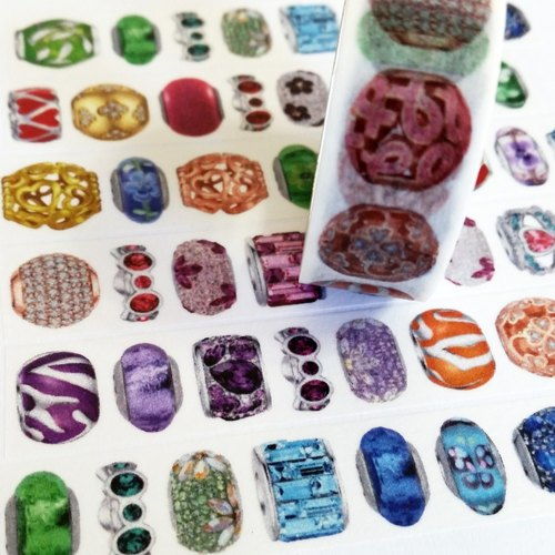 Customized Mini Washi Tape Colorful Crystal Stones