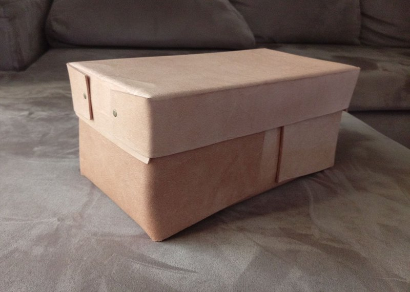 YOURS Leather Box Order - Cork Leather Custom Size