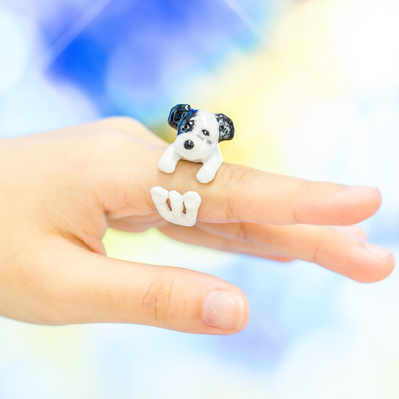Shunauzer Dog Hand Painting FreeSize Ring (Enamel, Adjustable Ring, Lovely Gift)