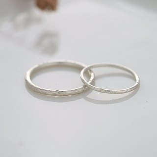 Ni.kou sterling silver knocking line ring couple ring (three in total)