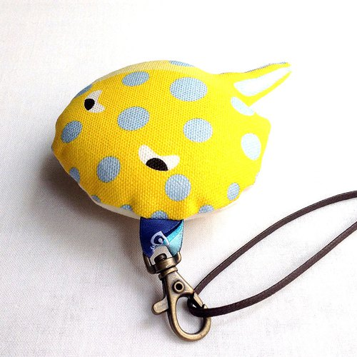 Design No.BRR155 - 【Cotton Canvas】Bluespotted Ribbontail Ray Charms