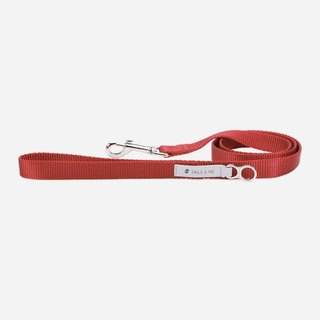 [Tail and me] classic nylon belt leash wine red