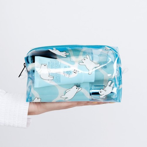 KIITOS series of transparent transparent PVC cosmetic bag / debris package - polar bear models (summer swimming equipment storage)