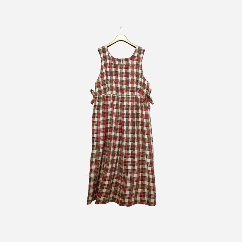 Dislocated vintage / plaid vest dress no.1189 vintage