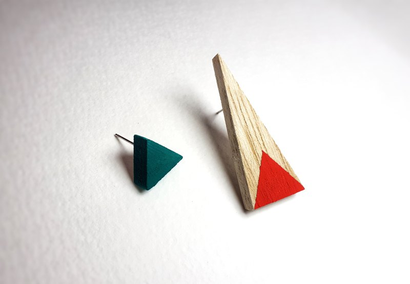 Wooden earring No.46