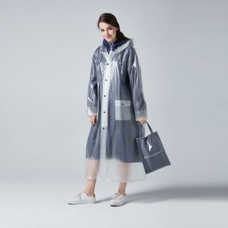 BAOGANI double raincoat - dot (dark blue)