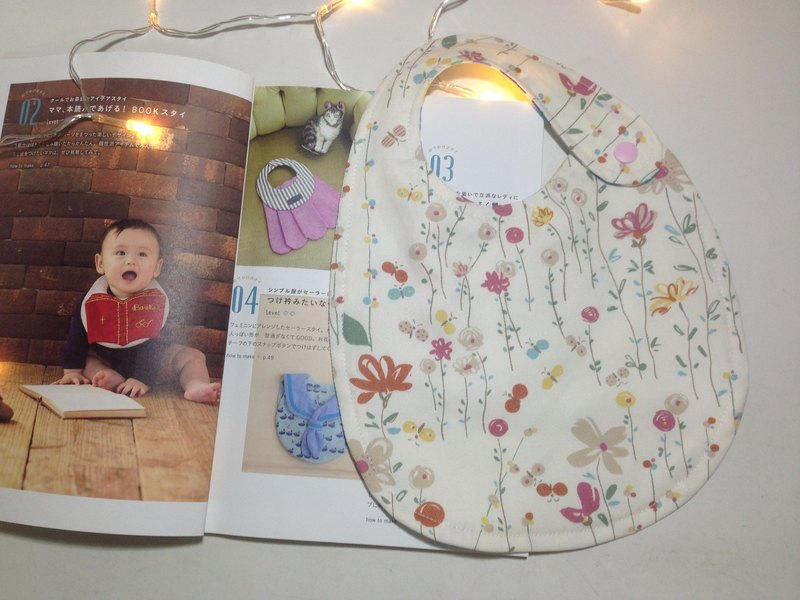 \ Autumn and winter new / spring flower meaning double-sided bib