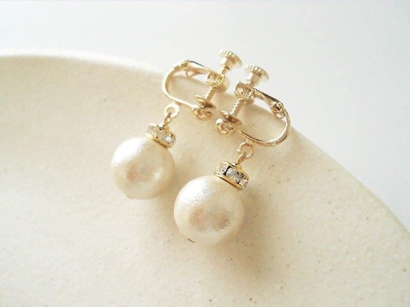 棉珍珠和龍德爾耳環