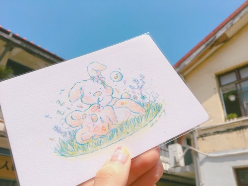 Farm Bunny original postcard 〃Postcard〃 discharge flash daily ✦✦