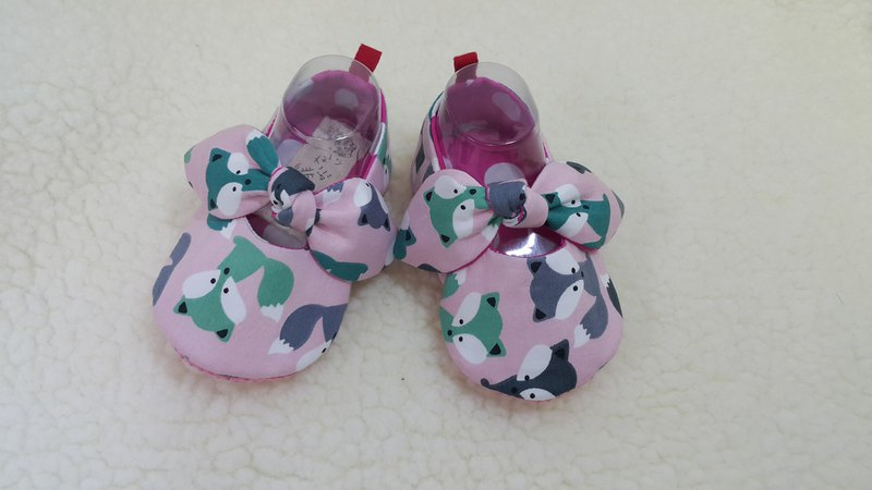 Little fox girl baby toddler shoes (12cm) 【SB171202】