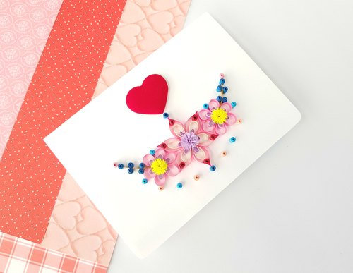 Hand made decorative cards-happy moment