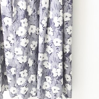 【RE1004D1436】 early autumn Japanese system retro gray purple white flowers short-sleeved ancient dress