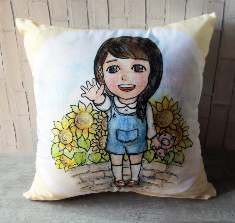 DUNMI and other meters / original design / sunflower boy / girl pillow
