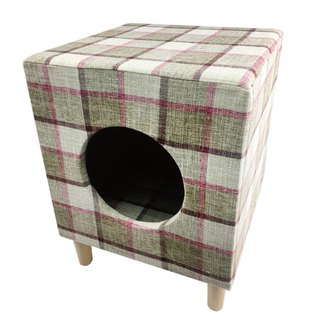 Pet Comfort Multifunction Chair Stool Wood Nest - Square Brown