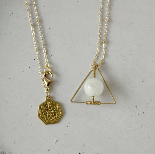 MYTH: trigonometry Moonstone Necklace