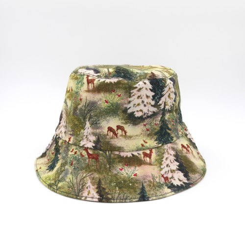 /Handmade bucket hat/ Magic forest