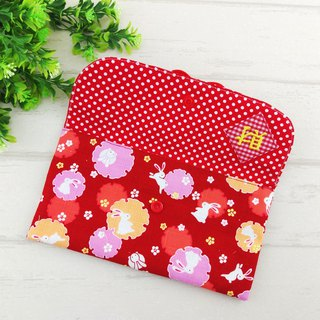 Money to -17 is optional. Hefeng cloth red bag / cloth fold bag (free embroidery name)
