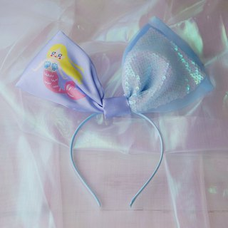 Original hand-made mermaid Ji sequin bow headband