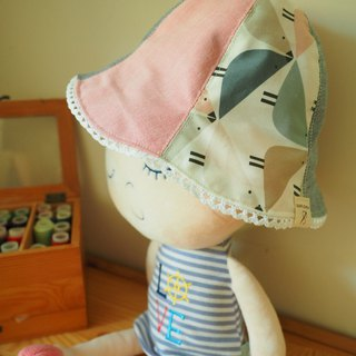 Handmade Reversible Sun Protection Hat Bird fabric from liberty of London