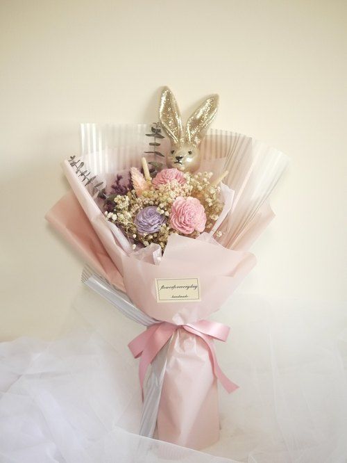 Daily flowers wishing rabbits confession bouquet / Valentines Day / birthday / anniversary