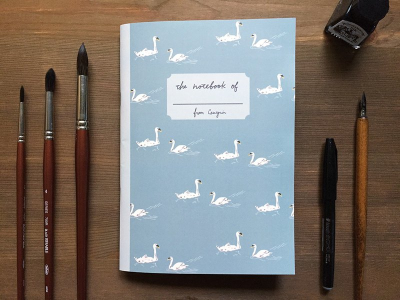 Swan A5 Checkered Notebook