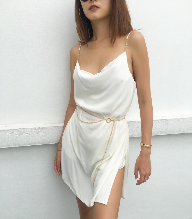 Try camisole dress set in natural cream