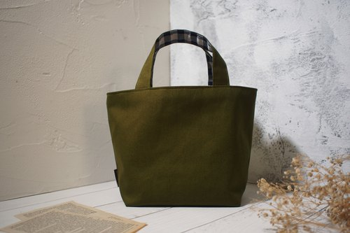 House wine series lunch bag / tote bag / limited manual bag / grass green / stock supply