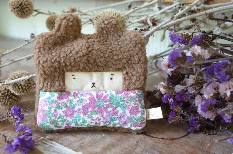 Doll Bunny Purse - Brown Hair - Mayflower/Purple