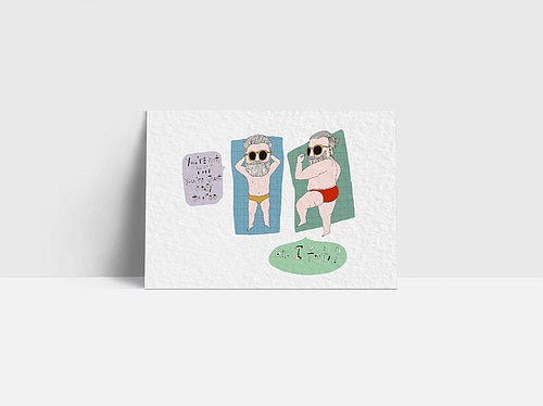 1087 | I am fat Am I fat | Postcard | funny lover in love