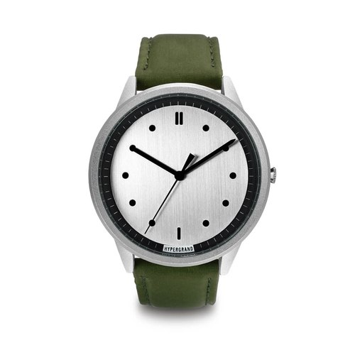HYPERGRAND - 02 Basic Series - Silver Dial x Green Pilot Watch