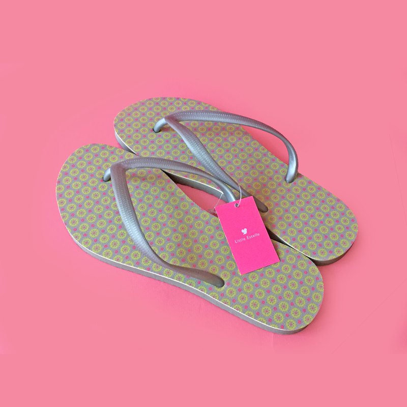 Lemon Flip Flops (female models)
