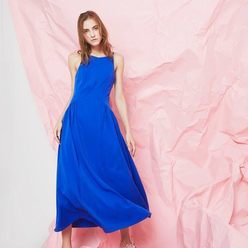 Maxi W Gathered Waist (Royal Blue)