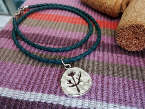 """Trees"" decorated with handmade sterling silver bracelet crashed"