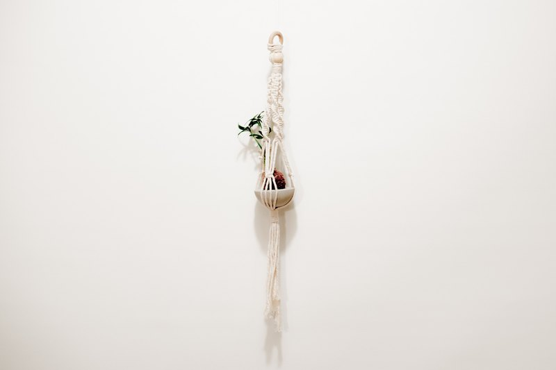 Participate in the building [small grass wants to hang] hand made woven series - small hanging net & mini water moss ball