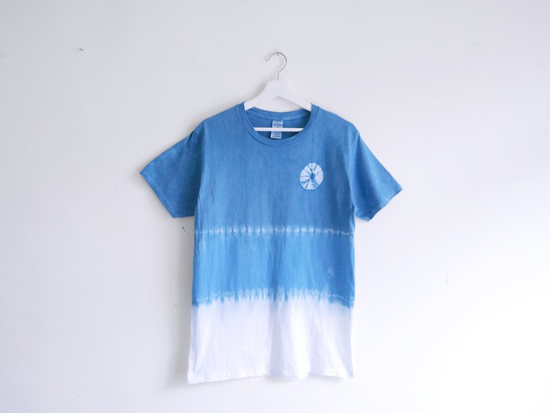 : Wheel (blue): Tie dye/T-shirt/Garment/Custom size/Men/Women