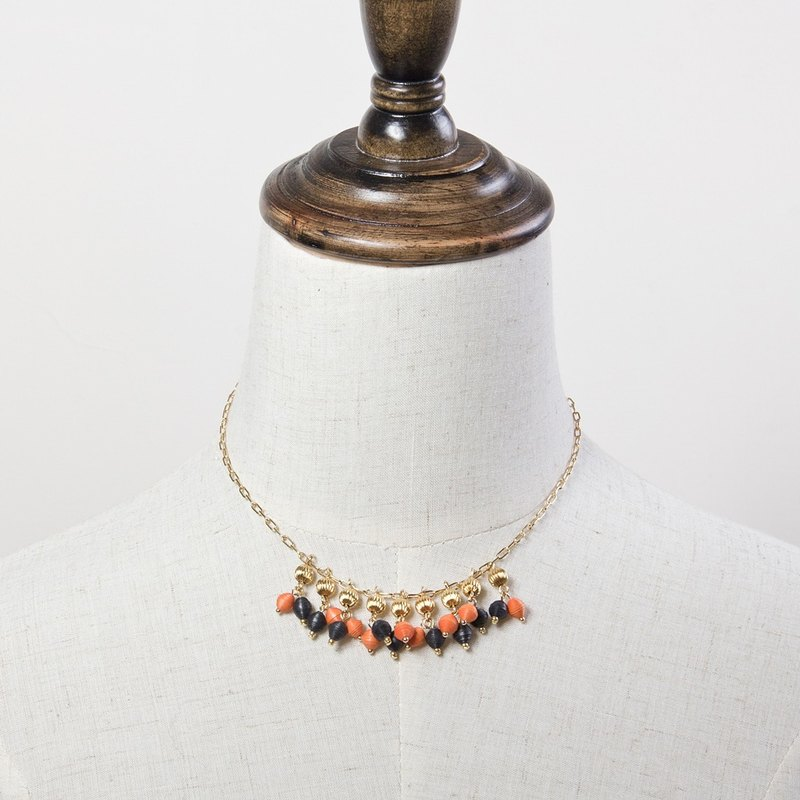 Gorgeous style mixed beads pendant necklace
