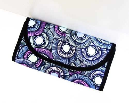 S,HU - Long wallet(purple flower)