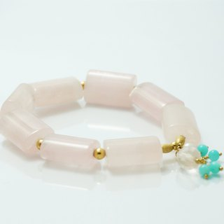 Rose Quartz Rose Quartz American 14K Gold Bracelet Light Jewelry