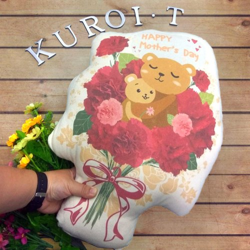 [Xiong Ai You Kang Nai Xin pillow] Mother's Day - thanks to Mommy / send a bunch of flowers to the mother to his wife when the gift shape pillow
