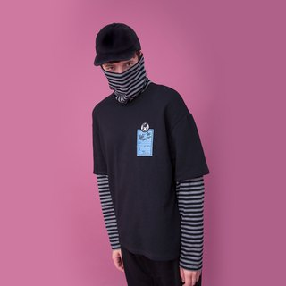 DUAL-LAYERED APPEARANCE TURTLENECK T-SHIRT