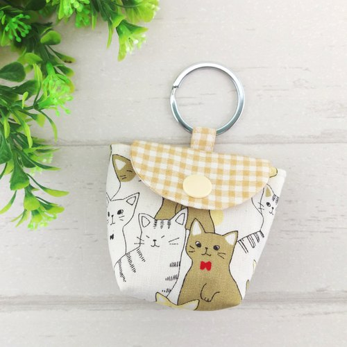 Milk tea cat. Pacifier storage bag (up to 40 embroidery name)