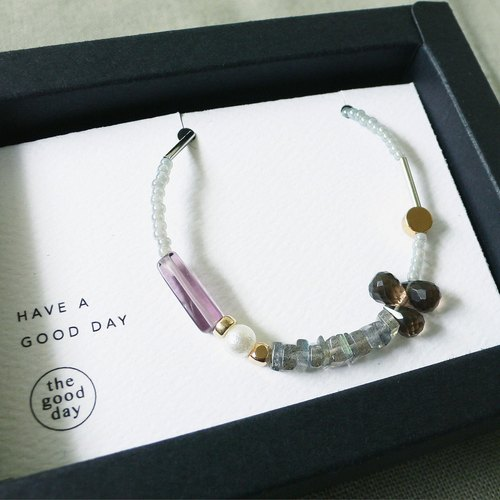 日和 the good day|shining in the dark|Quartz / Labradorite / Amatista Mix & Match Crystal Gemstone Bracelet
