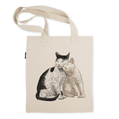 AMO®Original Tote Bags/AKE/The Cat Who Rub Someone's Face