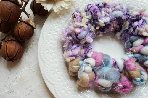 Braided small wreath. Angel flowers. Hair ring / hair bundle