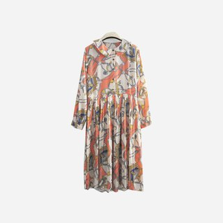 Dislocation vintage / printed totem round neck dress no.907 vintage