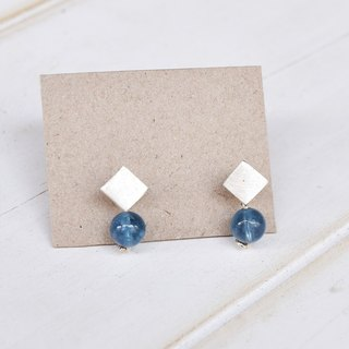 Water Blue Small Silver Earrings