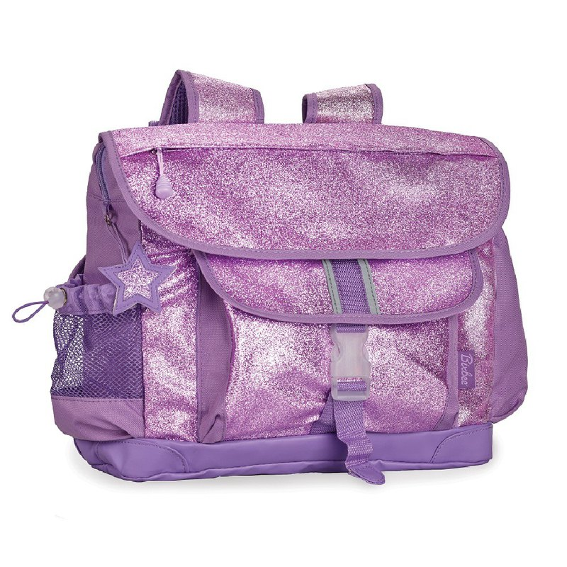 "Bixbee ""Sparkalicious"" Kids Glitter Backpack - Purple Large"