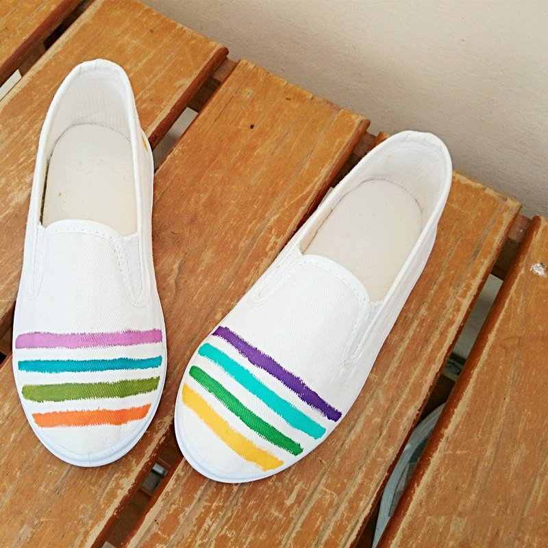 Summer walking hand-painted shoes | canvas shoes | lazy shoes | children's section |