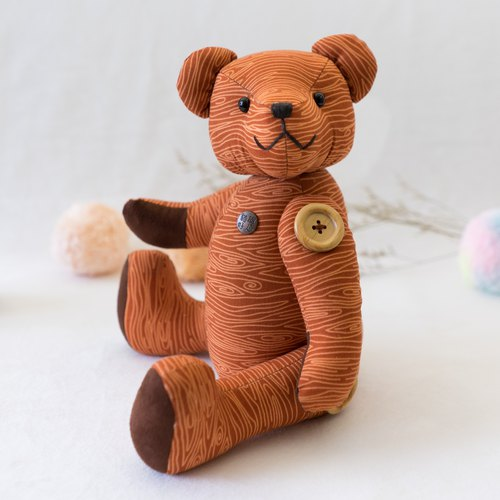 Teddy bear printing - Taco Bear / wood / 34cm / head and limb joints